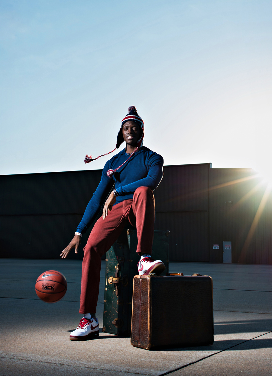 Reggie Jackson of the Oklahoma City Thunder poses for a portrait for Sports Illustrated Magazine.   Kenneth M. Ruggiano is a portrait photographer living in Tulsa, Oklahoma specializing in Sports and Athletic Photography.